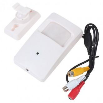 Zabezpečovací systémy - kamera s mikrofonem skrytá v PIR čidle - 700TVL