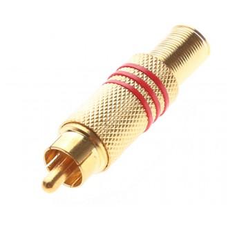 Zabezpečovací systémy - Zlacený konektor Cinch (RCA) pro koaxiální kabel