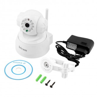 Zabezpečovací systémy - Sricam WiFi IP kamera otočná s mikrofonem a reproduktorem