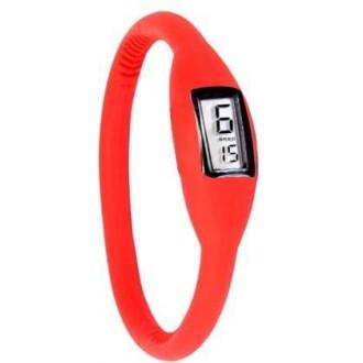 b2cca7eb9fc Silikonové náramkové hodinky - digitální červené - iPal.cz