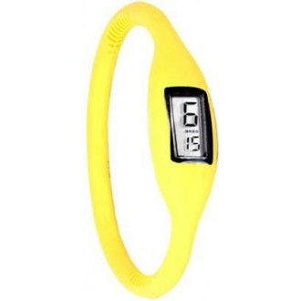 d5ee98c64ac Silikonové náramkové hodinky - digitální žluté - iPal.cz