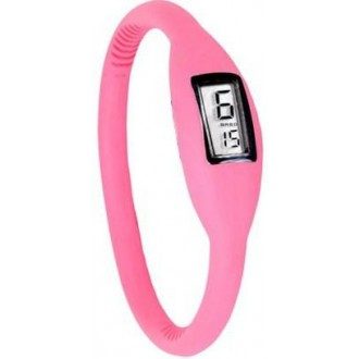 7349d4e7268 Silikonové náramkové hodinky - digitální růžové - iPal.cz