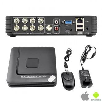Zabezpečovací systémy - Digitální Video Rekordér AHD 8-kanálový H.264