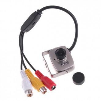 Zabezpečovací systémy - Mini špionážní kamera s nočním viděním a mikrofonem
