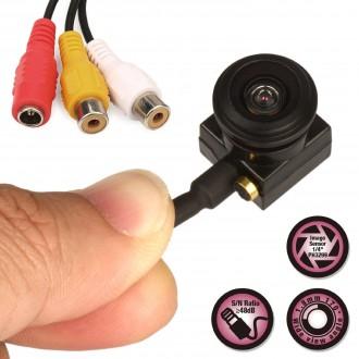 Zabezpečovací systémy - Špionážní mini kamera s mikrofónem a velkým úhlem záběru