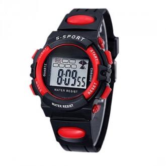 Hodinky - Dětské digitální hodinky značky Synoke, červené