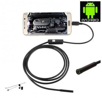 Příslušenství pro počítače - USB endoskop pro Android a počítač s osvětlením 2m