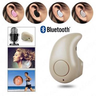 Příslušenství pro mobily - Handsfree mini Bluetooth V4.0 headset - béžové