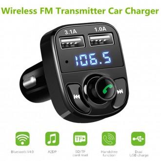 Transmitter do auta - Transmitter do auta, HandsFree Bluetooth, USB nabíječka 3.1A