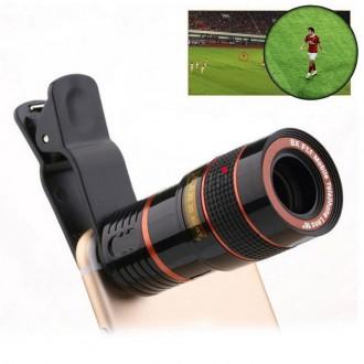 Příslušenství pro mobily - Teleskopický objektiv pro mobil - 8x zoom