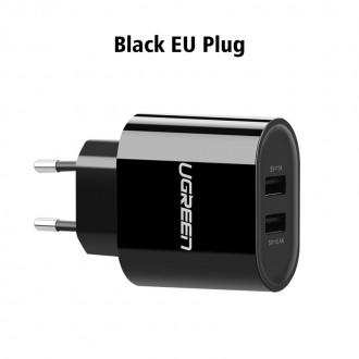 Nabíječky, adaptéry a redukce - Duální USB nabíječka Ugreen 5V 3.4A