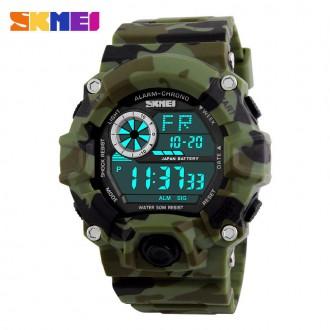 Hodinky - Hodinky SKMEI 1019 MILITARY pánské sportovní digitální vodotěsné hodinky do 50m