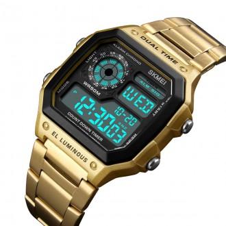 Hodinky - Digitální hodinky Skmei 1335 Gold
