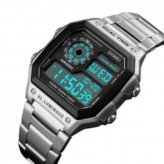 Hodinky - Digitální hodinky Skmei 1335 Silver