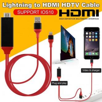 Příslušenství pro mobily - Kabel HDTV s redukcí Lightning na HDMI pro Apple iPhone iPad