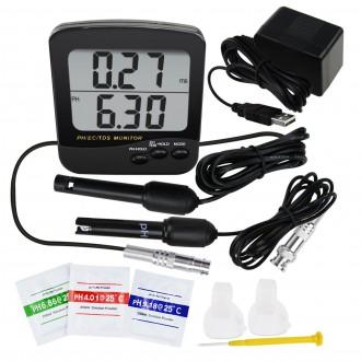 Měřící přístroje - Kombinovaný digitální monitor pH/EC/TDS