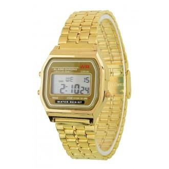 Hodinky - Retro digitálky, zlaté digitální hodinky