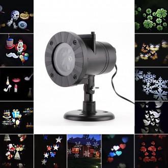 LED osvětlení - Dekorativní venkovní LED projektor 12 motivů