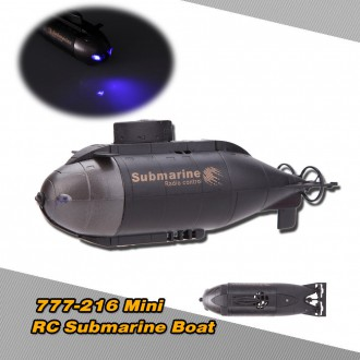 RC modely a hračky - RC mini ponorka 40MHz, LED osvětlení