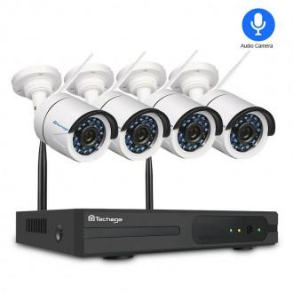 Zabezpečovací systémy - Kamerový systém Techage 4CH Full HD 1080p WIFI NVR IP kamera