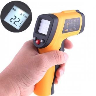 Měřící přístroje - Bezkontaktní infračervený teploměr s měřením do 380 C
