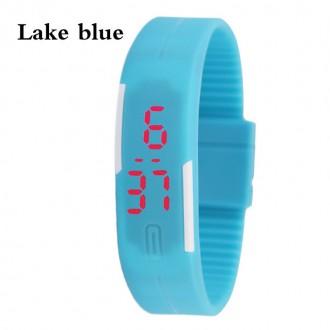 Hodinky - Digitální hodinky na běhání - světle modré