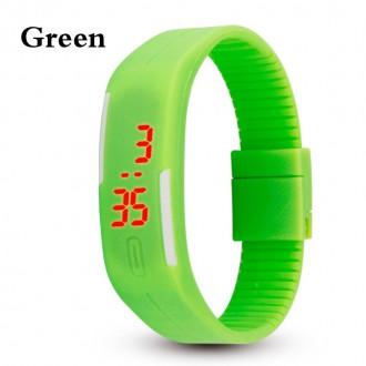 Hodinky - Digitální hodinky na běhání - zelené