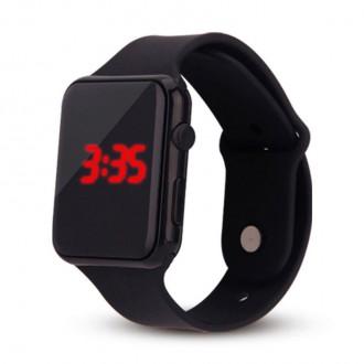 Hodinky - Silikonové digitální hodinky - černé