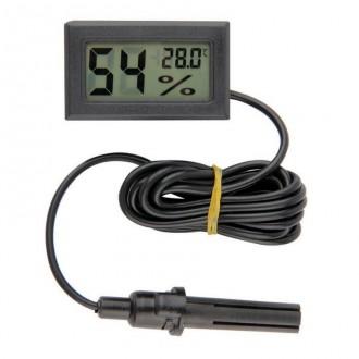 Měřící přístroje - Digitální teploměr a vlhkoměr do panelu, černý