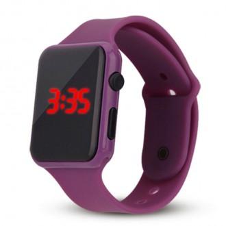 Hodinky - Silikonové digitální hodinky - fialová