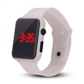 Hodinky - Silikonové digitální hodinky - bílá