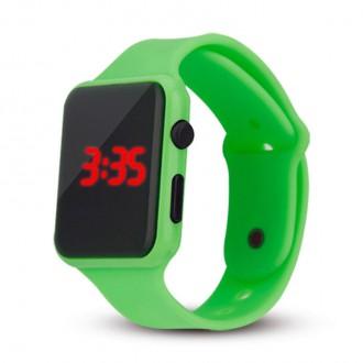 Hodinky - Silikonové digitální hodinky - zelená