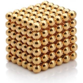 RC modely a hračky - NeoCube magnetické kuličky 5mm 216 kusů zlaté