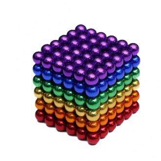 Neodymový magnet - NeoCube magnetické kuličky 5mm 216 kusů barevné