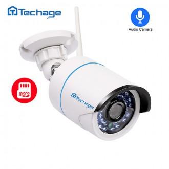 Zabezpečovací systémy - IP kamera Techage venkovní se slotem na SD kartu 1080P