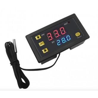 Měřící přístroje - Digitální termostat panelový LCD 12V 20A W3230