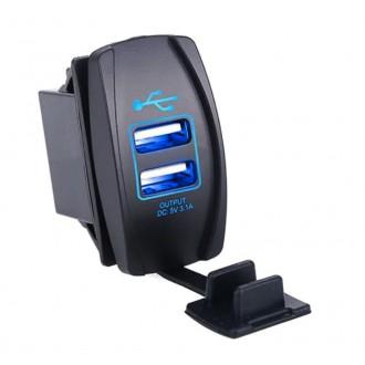 Nabíječky, adaptéry a redukce - Voděodolná USB zásuvka do panelu 3,1A