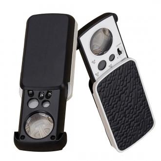 Mikroskopy a lupy - Lupa zvětšení 30x 60x 90x LED UV