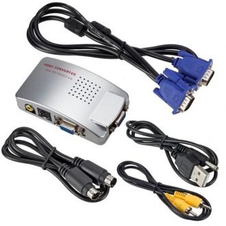 Příslušenství pro počítače - PC VGA převodník na TV AV RCA S-VIDEO