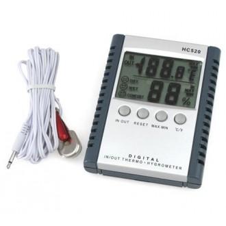 Měřící přístroje - Digitální teploměr a vlhkoměr - venkovní a vnitřní teplota
