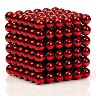 RC modely a hračky - NeoCube magnetické kuličky 5mm 216 kusů červené
