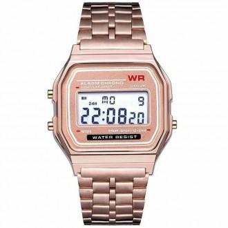 Hodinky - Retro digitálky, legendární digitální hodinky růžové