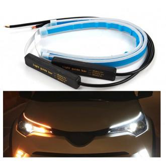 LED osvětlení - 2x Denní svícení 70cm LED DRL s funkcí blinkru postupné spouštění