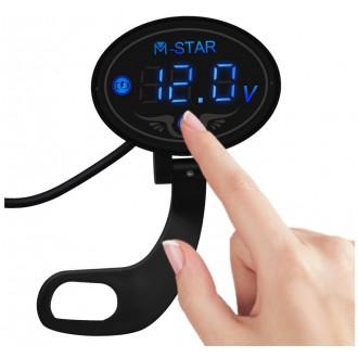 Měřící přístroje - Digitální voltmetr na řídítka motorky