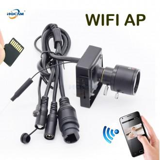 Zabezpečovací systémy - WIFI IP mini kamera HQCAM s manuálním objektivem