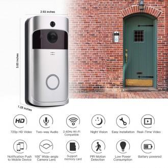 Zabezpečovací systémy - Video zvonek s přenosem obrazu přes Wifi a PIR čidlem