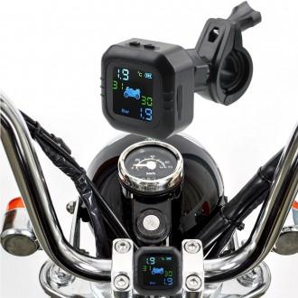 Měřící přístroje - kontrola a monitor tlaku v pneumatice pro motocykly