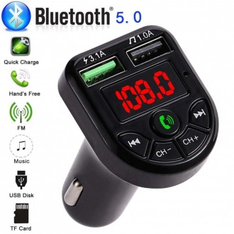 Transmitter do auta - Transmitter do auta HandsFree Bluetooth USB nabíječka 3.1A