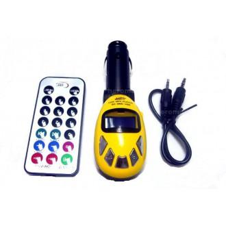 Transmitter do auta - Žlutý fm transmitter do auta.