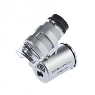 Mikroskopy a lupy - Kapesní mikroskop - 60x zvětšení